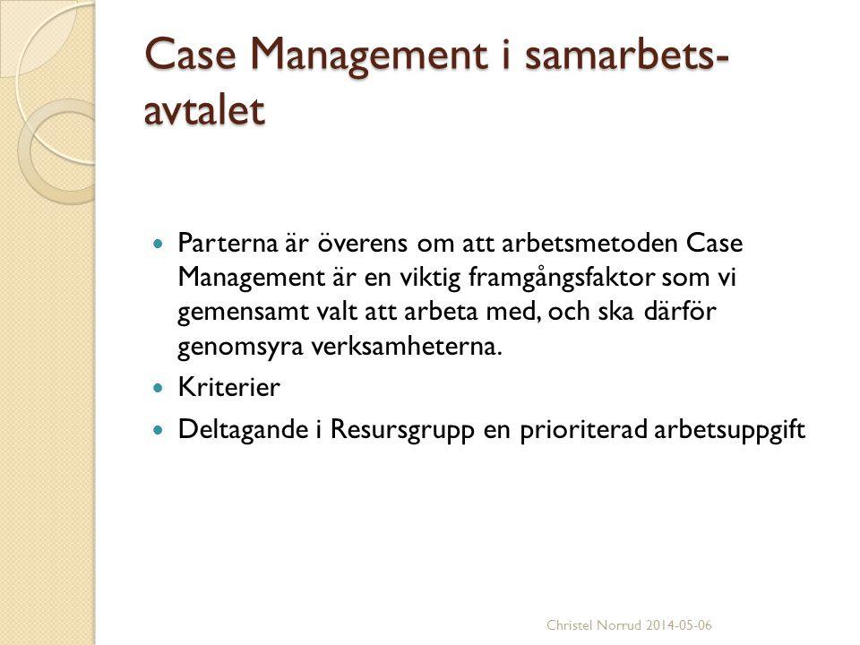 Case Management i samarbets-avtalet