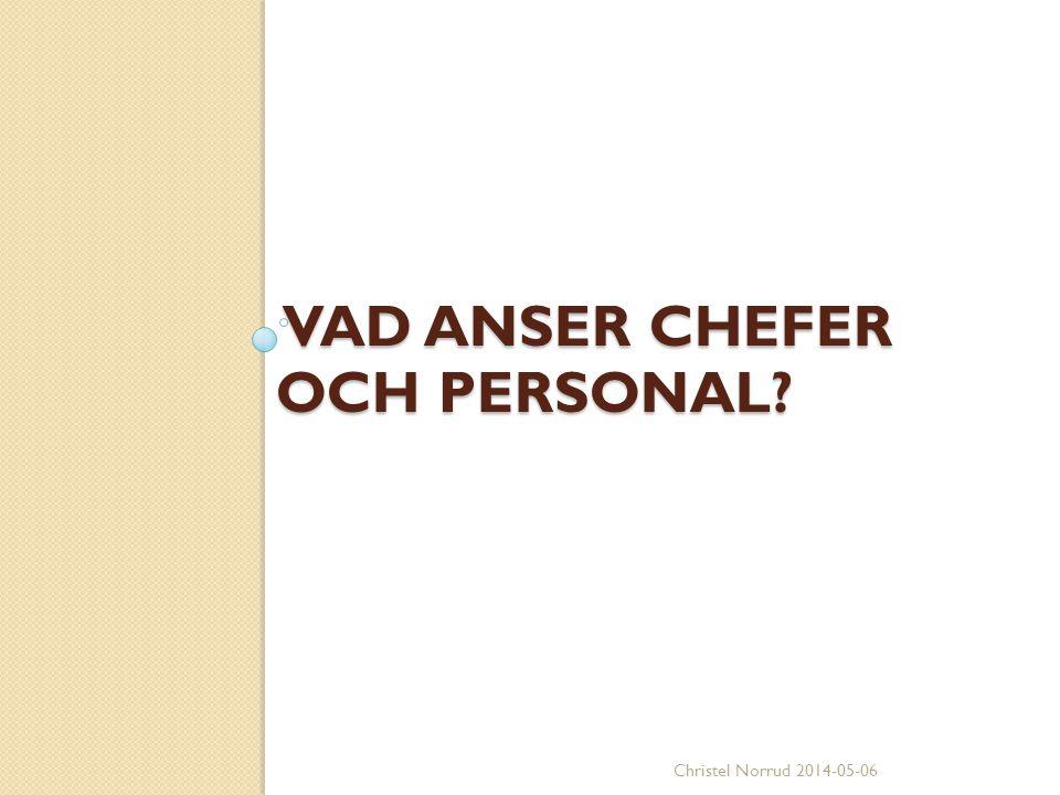VAD ANSER CHEFER OCH PERSONAL