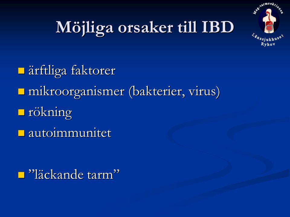 Möjliga orsaker till IBD