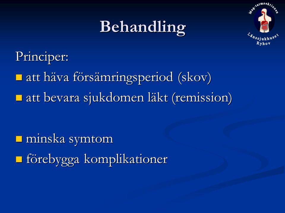 Behandling Principer: att häva försämringsperiod (skov)