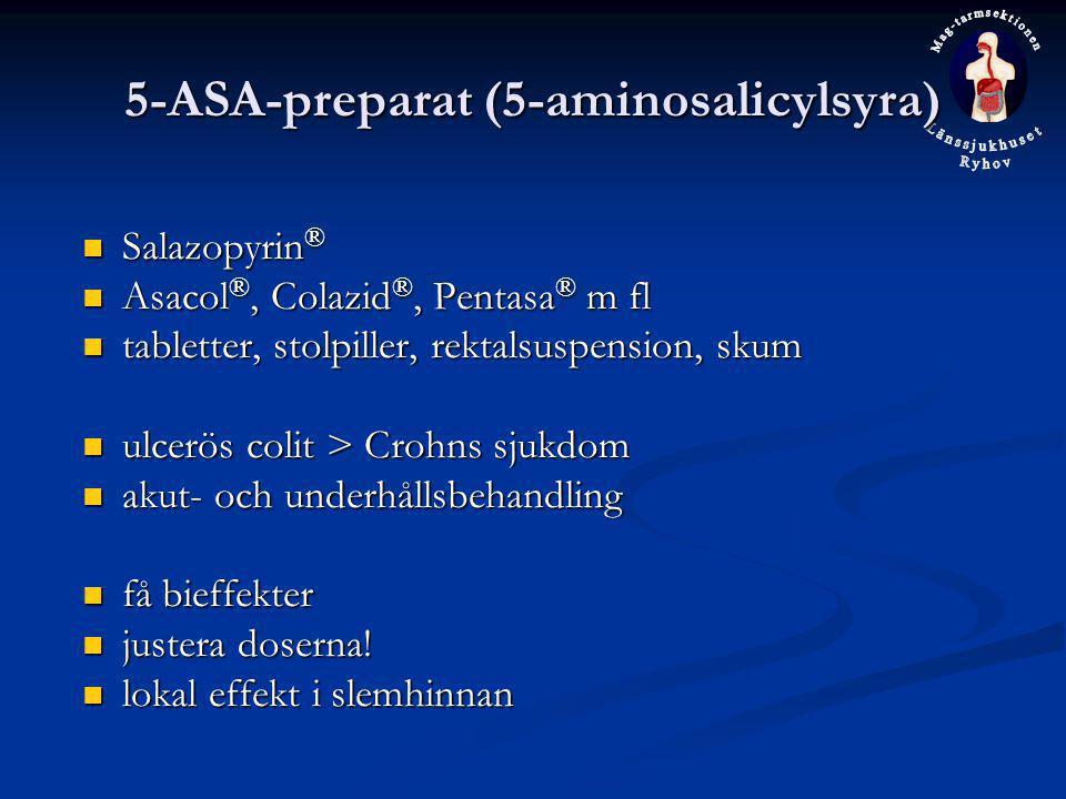 5-ASA-preparat (5-aminosalicylsyra)