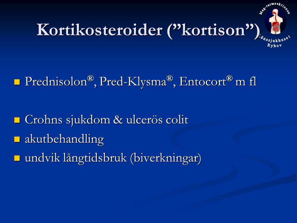 Kortikosteroider ( kortison )