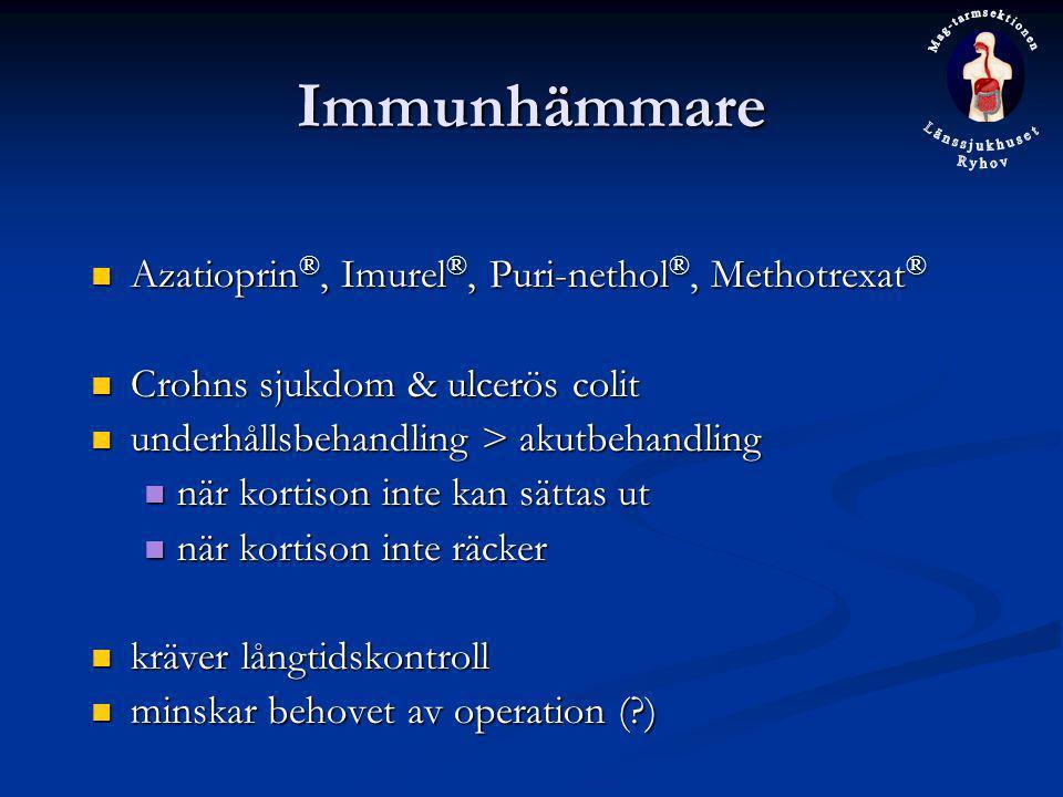 Immunhämmare Azatioprin®, Imurel®, Puri-nethol®, Methotrexat®
