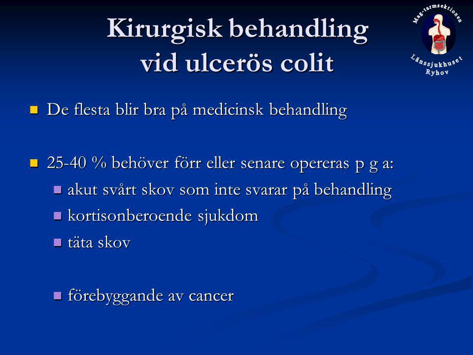 Kirurgisk behandling vid ulcerös colit
