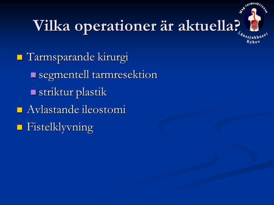 Vilka operationer är aktuella