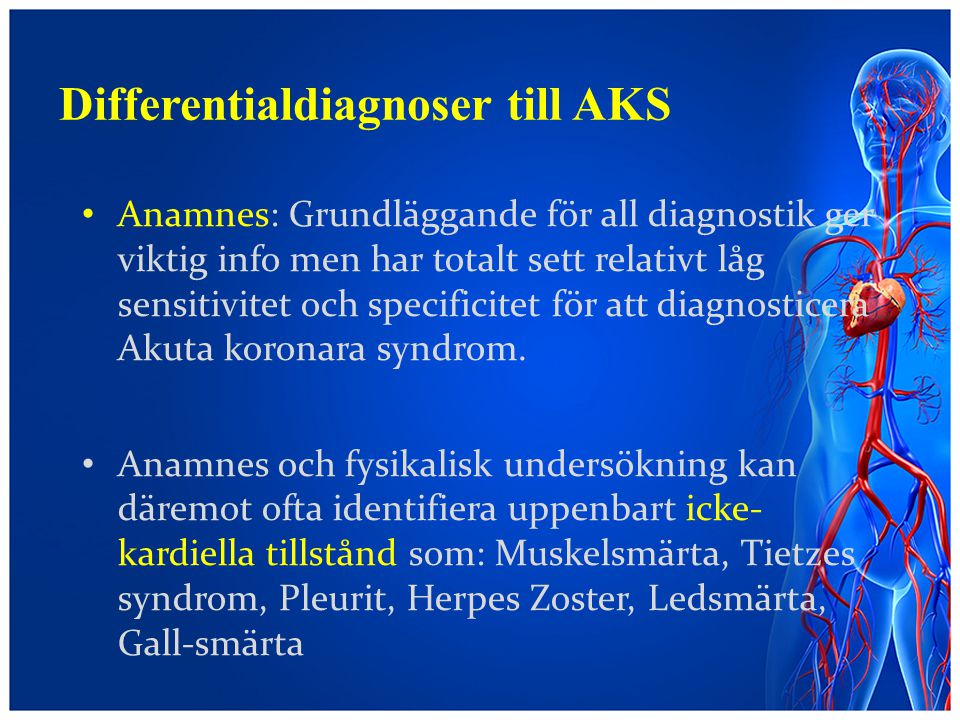 Differentialdiagnoser till AKS