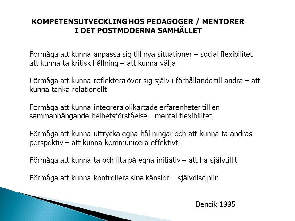 KOMPETENSUTVECKLING HOS PEDAGOGER / MENTORER