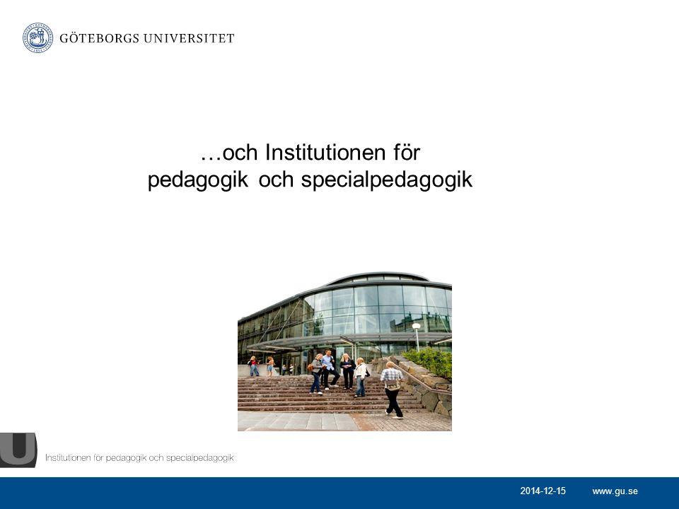 …och Institutionen för pedagogik och specialpedagogik
