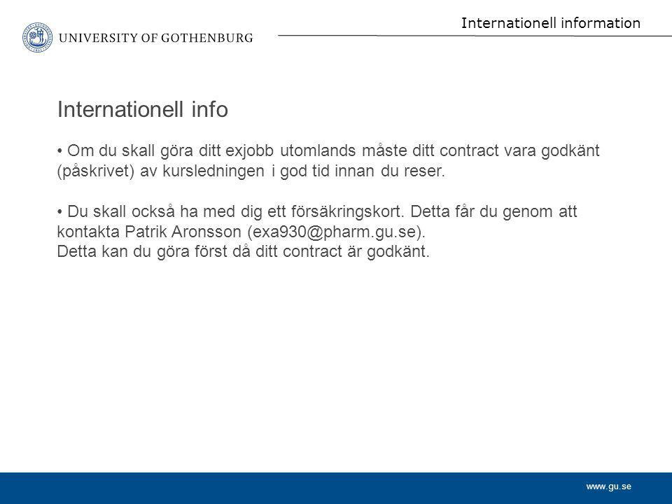 Internationell information