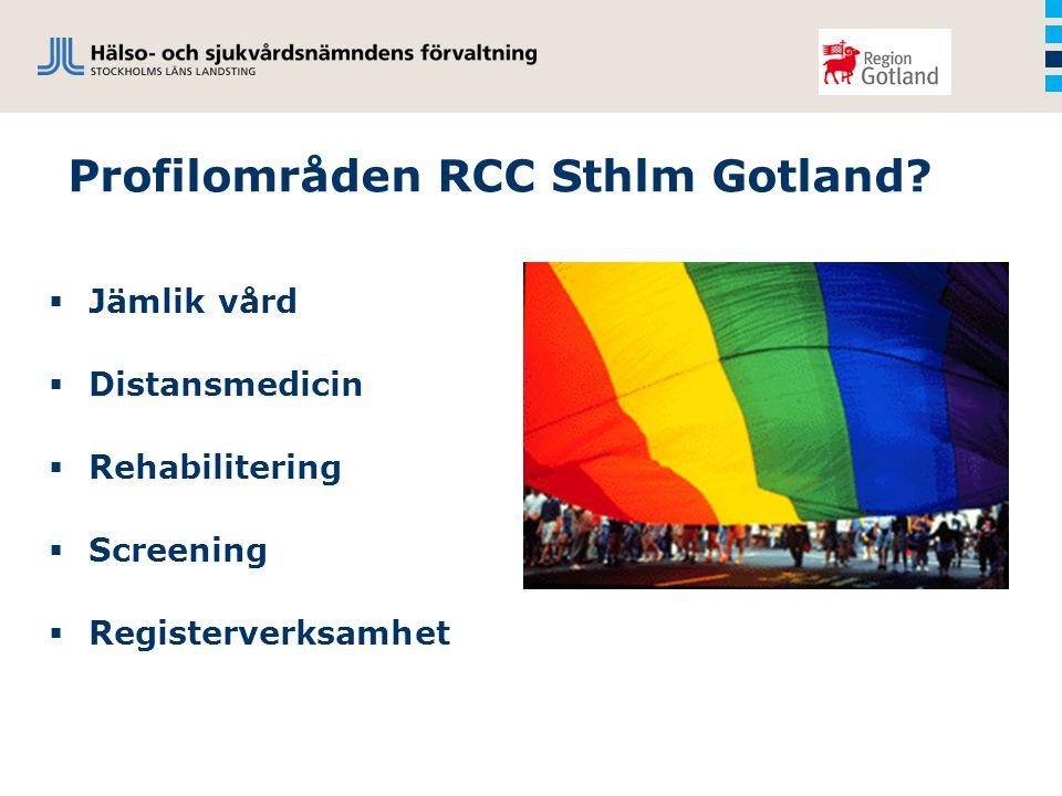 Profilområden RCC Sthlm Gotland