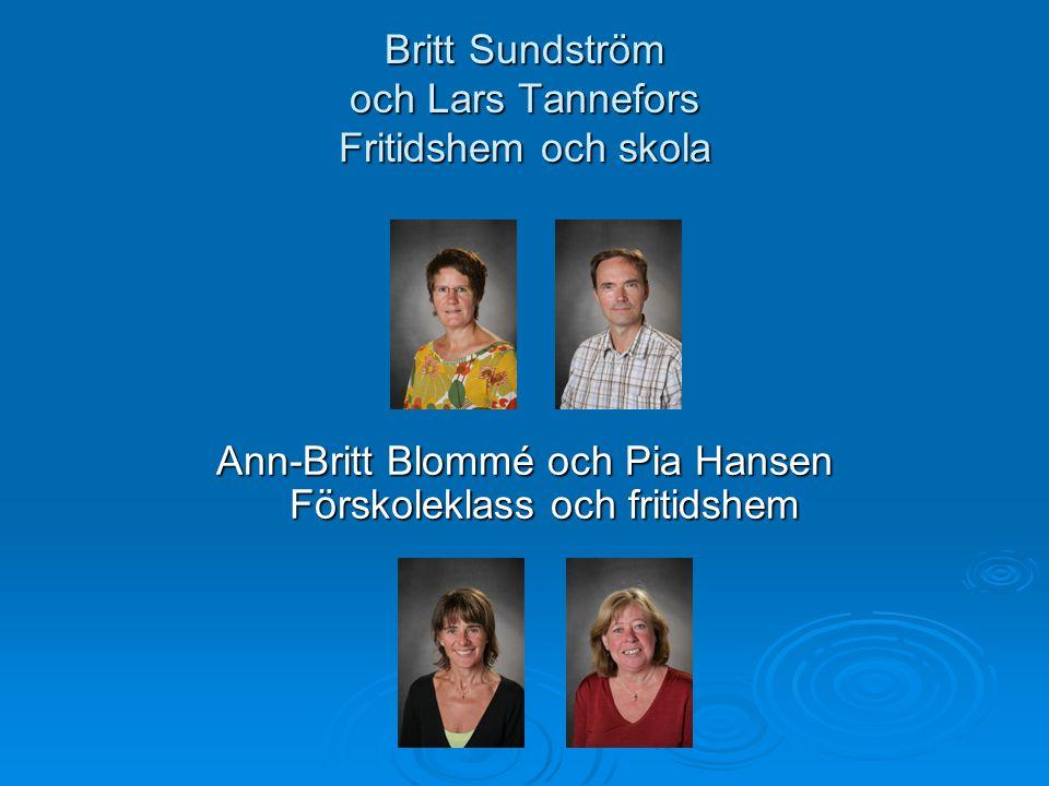 Britt Sundström och Lars Tannefors Fritidshem och skola