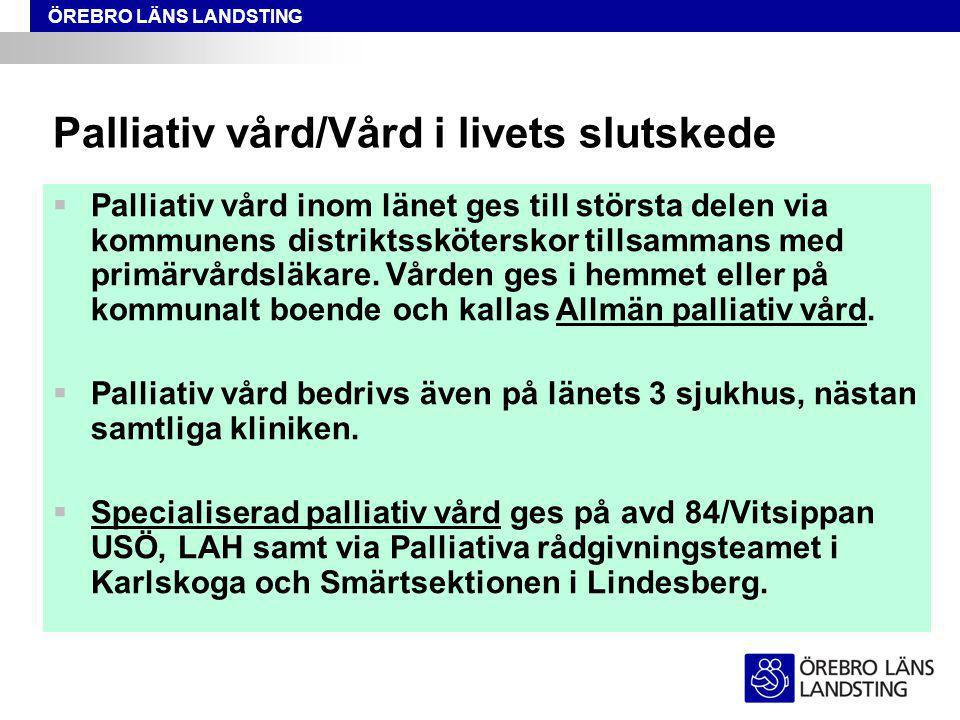Palliativ vård/Vård i livets slutskede