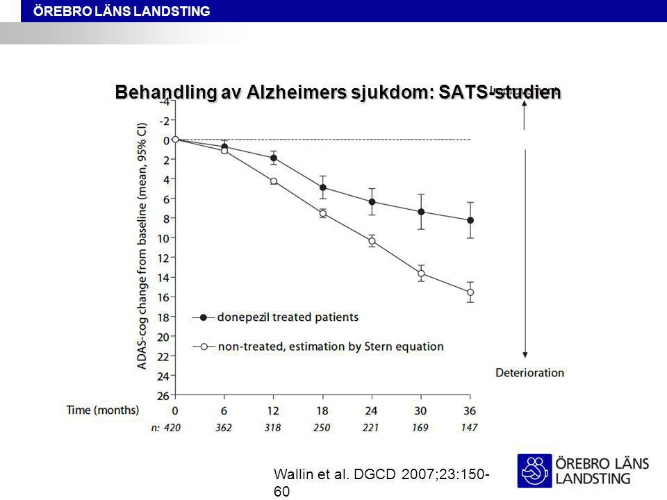 Behandling av Alzheimers sjukdom: SATS-studien