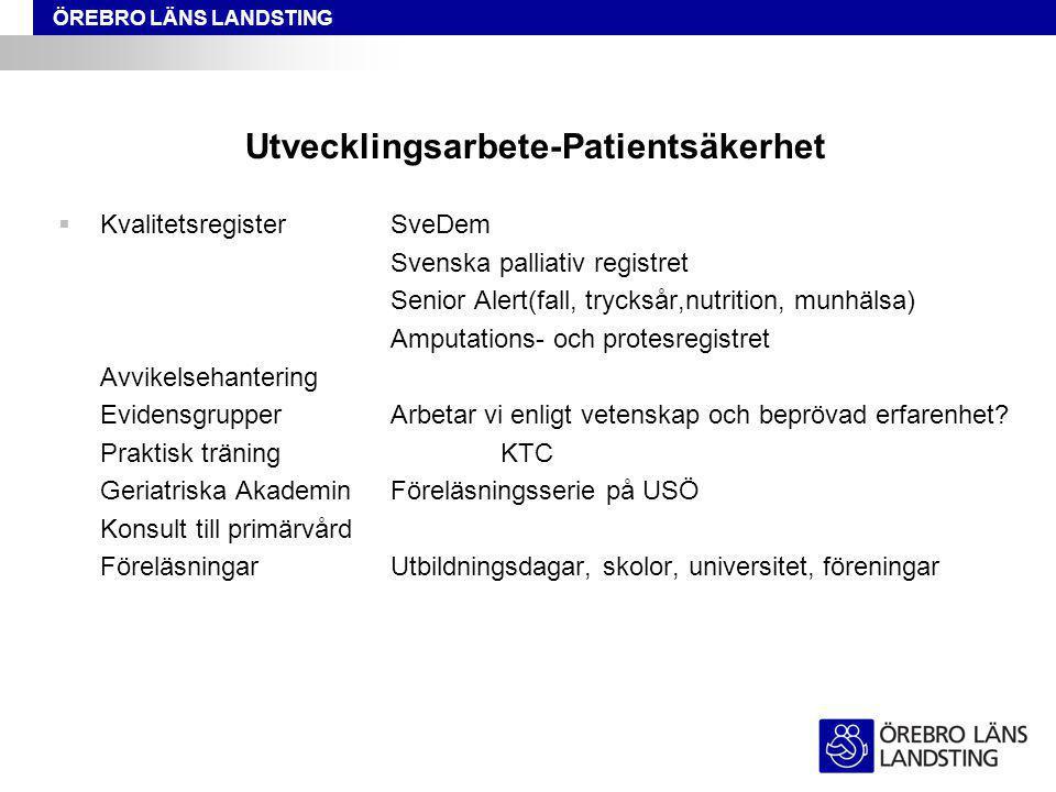 Utvecklingsarbete-Patientsäkerhet