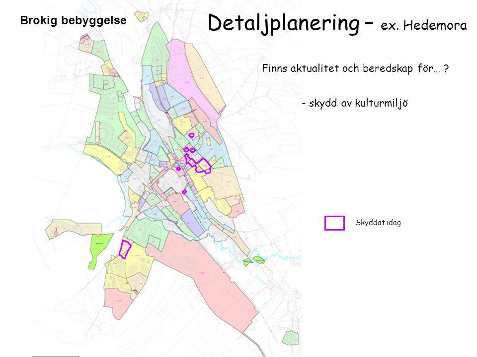 Detaljplanering – ex. Hedemora