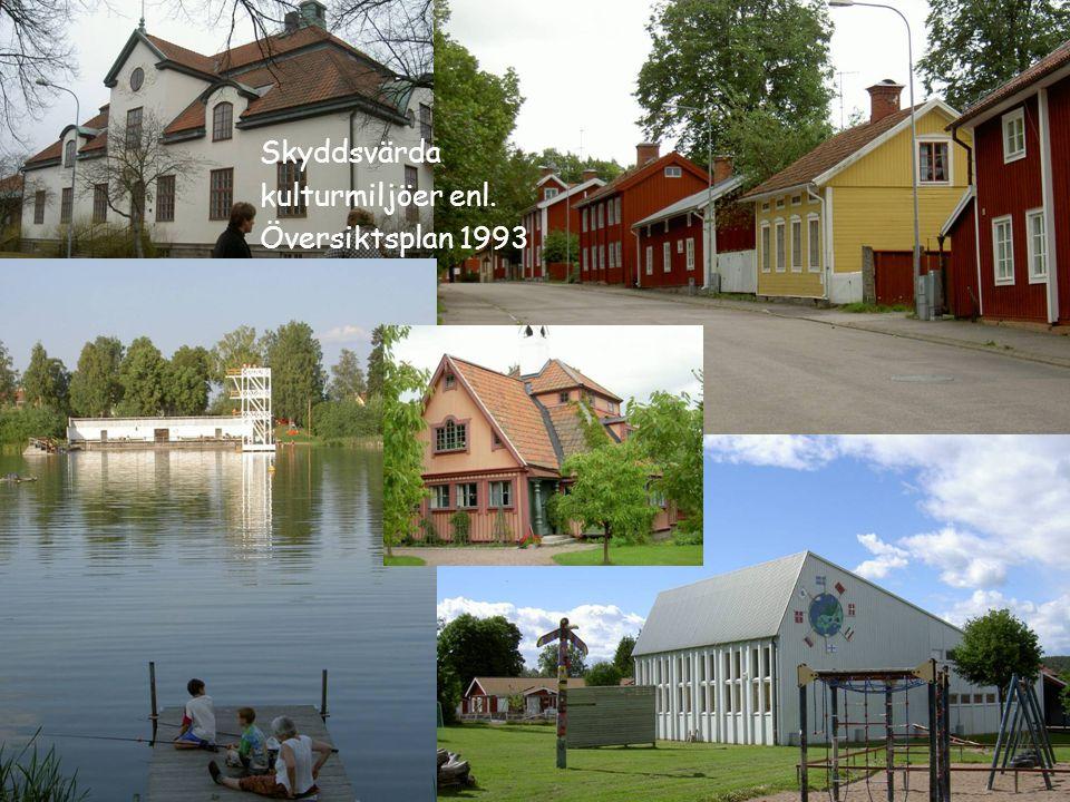 Skyddsvärda kulturmiljöer enl. Översiktsplan 1993