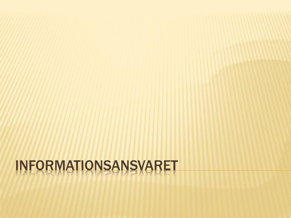 Informationsansvaret