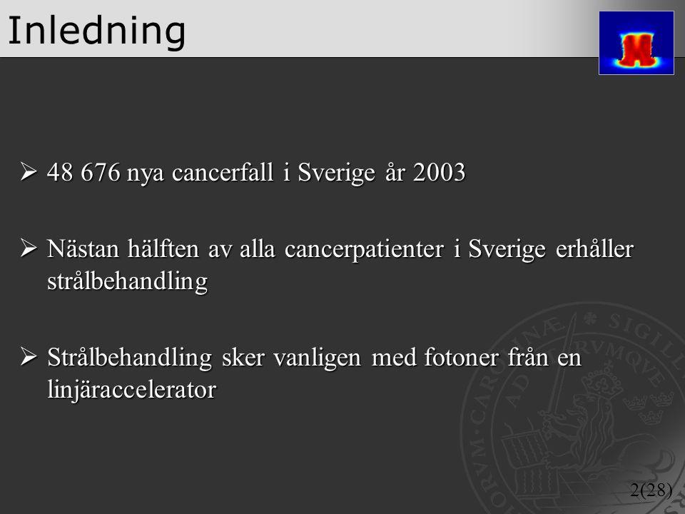 Inledning 48 676 nya cancerfall i Sverige år 2003