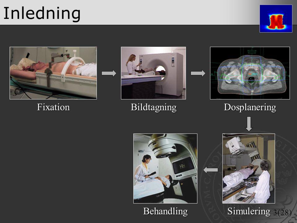 Inledning Fixation Bildtagning Dosplanering Behandling Simulering