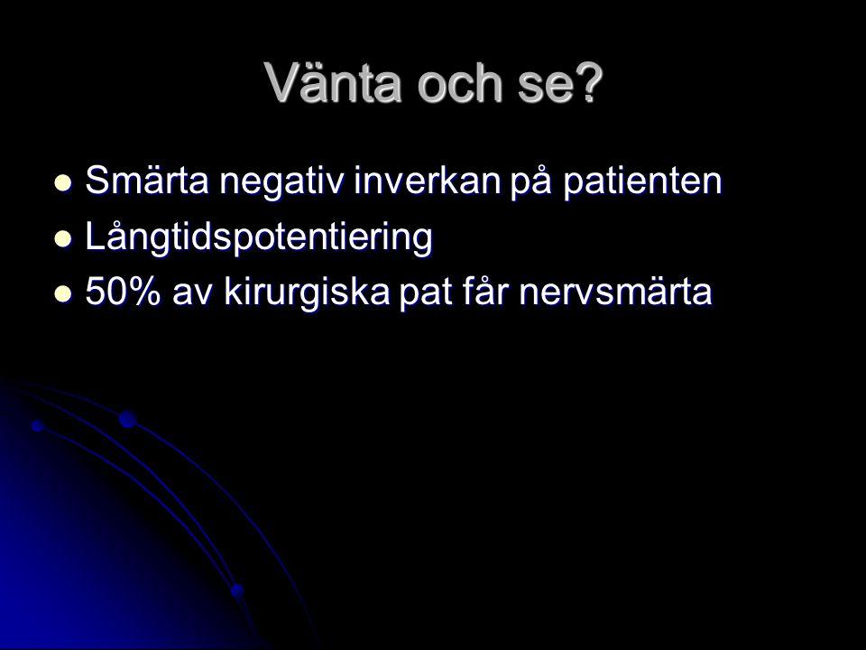 Vänta och se Smärta negativ inverkan på patienten