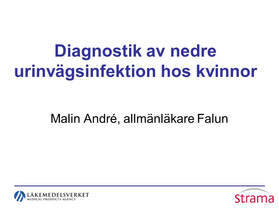 Diagnostik av nedre urinvägsinfektion hos kvinnor