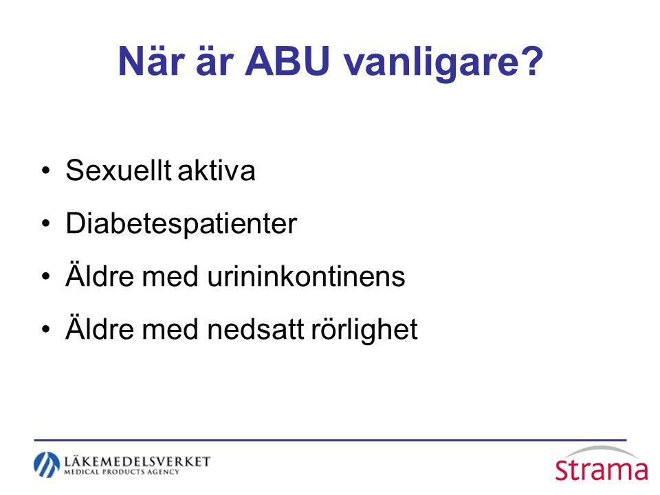 När är ABU vanligare Sexuellt aktiva Diabetespatienter