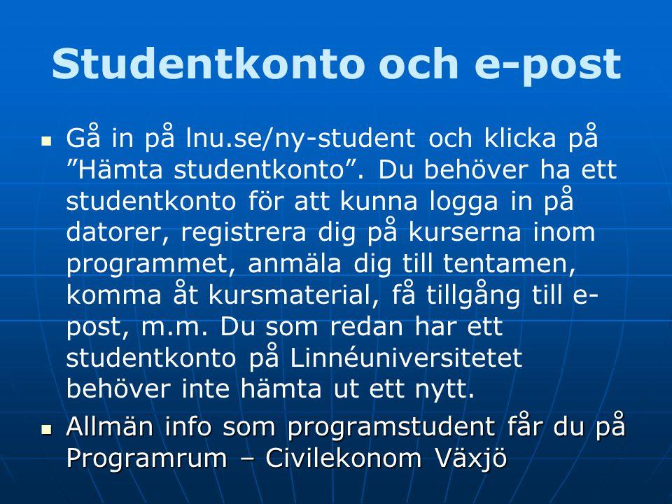 Studentkonto och e-post