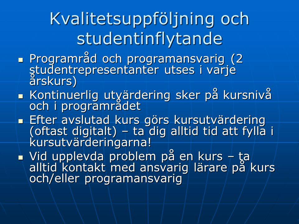 Kvalitetsuppföljning och studentinflytande