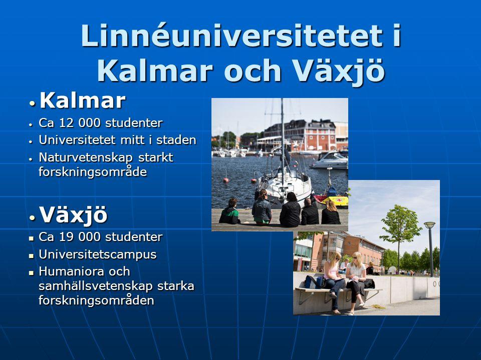 Linnéuniversitetet i Kalmar och Växjö