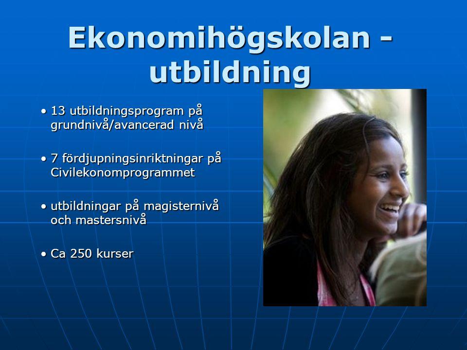 Ekonomihögskolan - utbildning