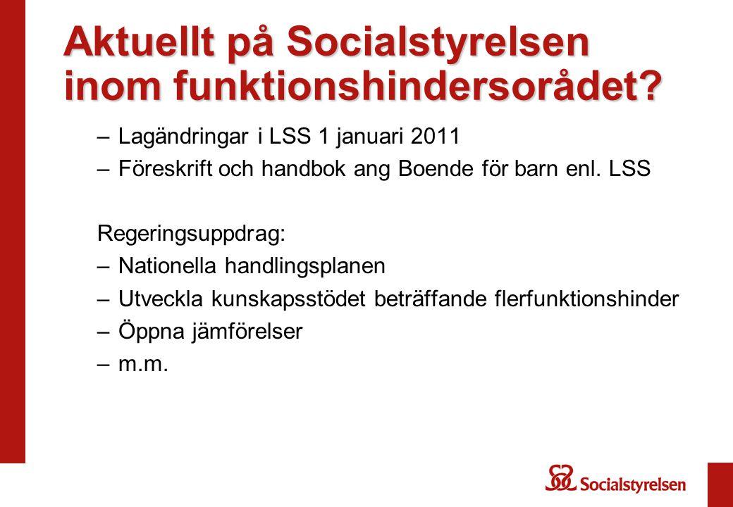 Aktuellt på Socialstyrelsen inom funktionshindersorådet