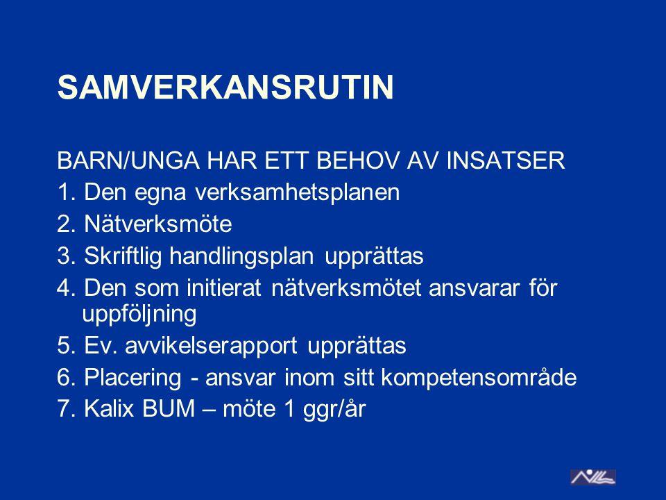 SAMVERKANSRUTIN BARN/UNGA HAR ETT BEHOV AV INSATSER