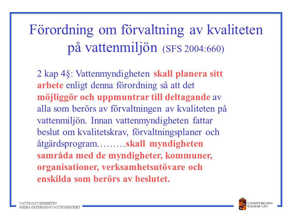 Förordning om förvaltning av kvaliteten på vattenmiljön (SFS 2004:660)