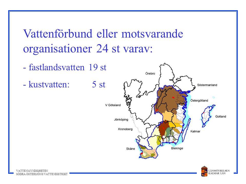Vattenförbund eller motsvarande organisationer 24 st varav: