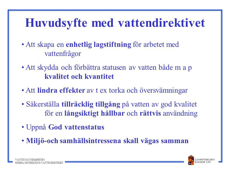 Huvudsyfte med vattendirektivet
