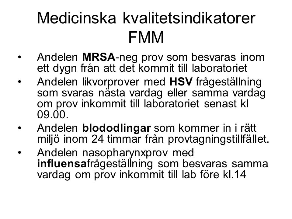 Medicinska kvalitetsindikatorer FMM