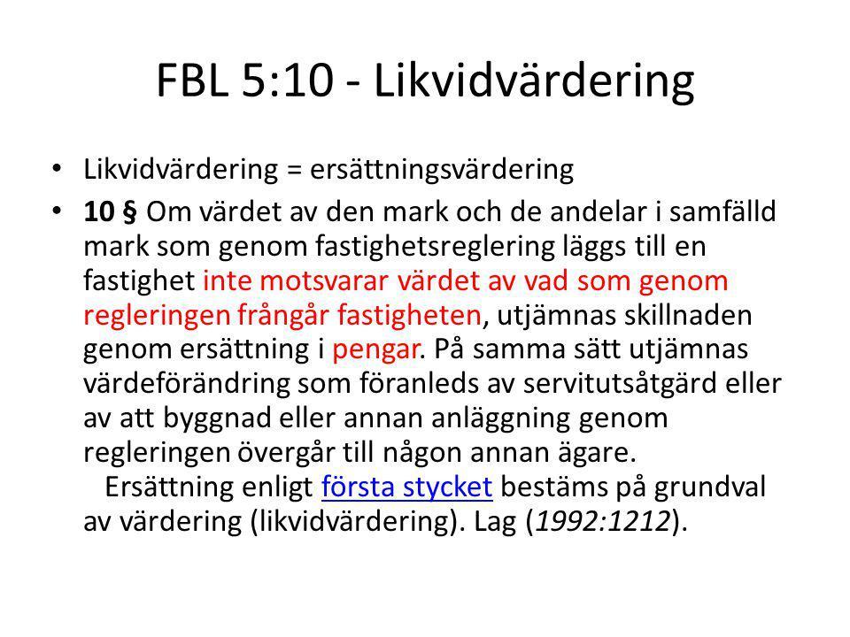 FBL 5:10 - Likvidvärdering