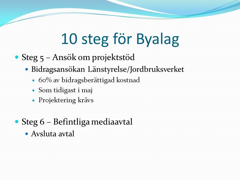 10 steg för Byalag Steg 5 – Ansök om projektstöd