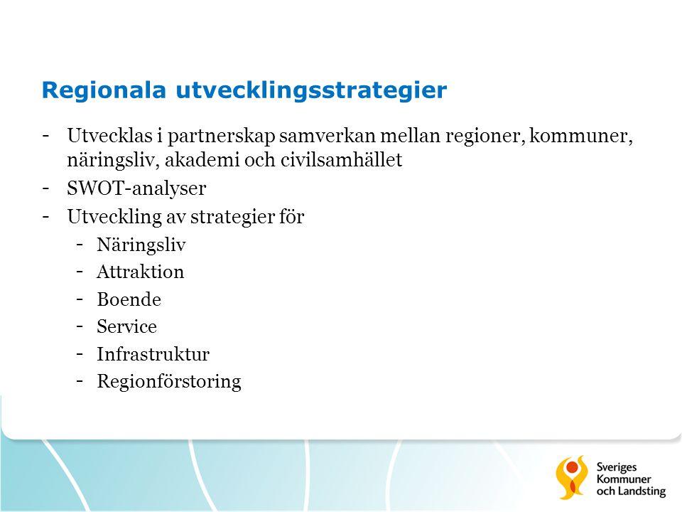 Regionala utvecklingsstrategier
