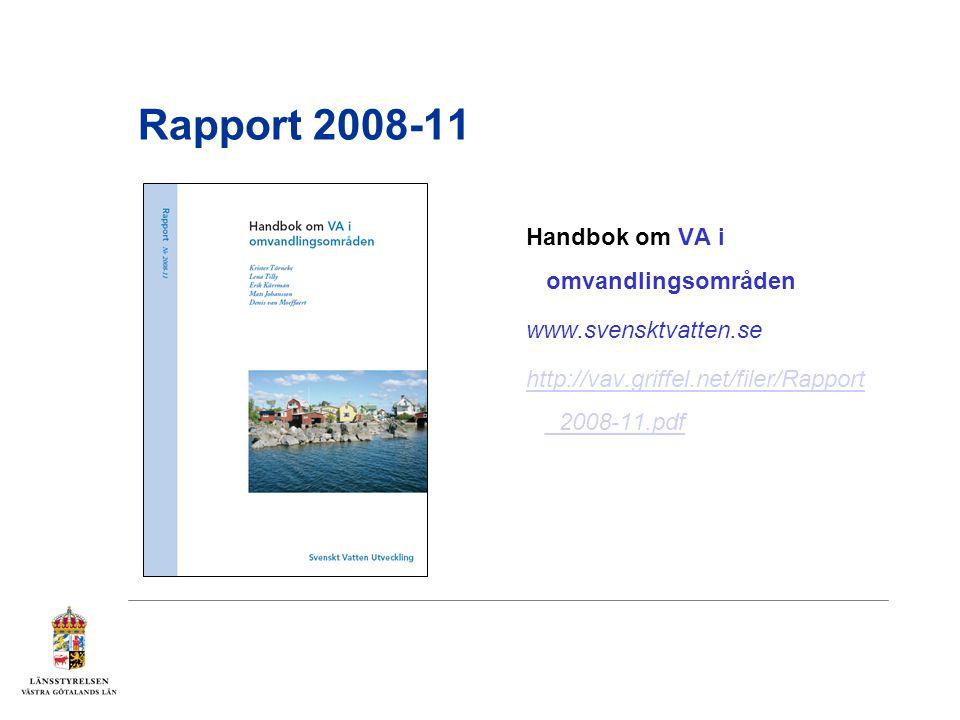 Rapport 2008-11 Handbok om VA i omvandlingsområden