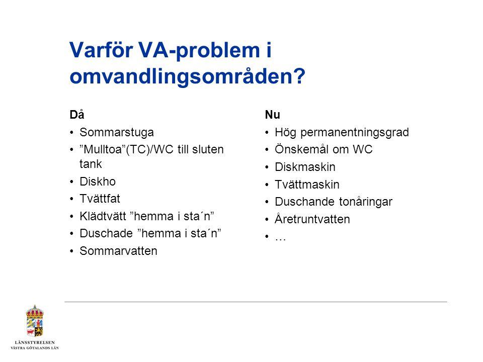 Varför VA-problem i omvandlingsområden