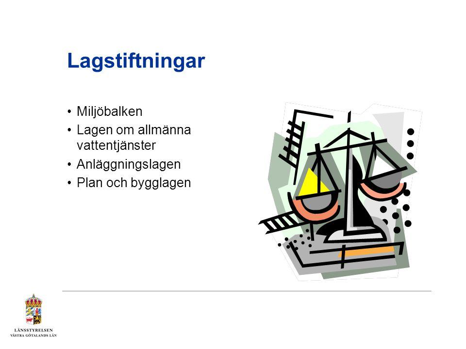 Lagstiftningar Miljöbalken Lagen om allmänna vattentjänster