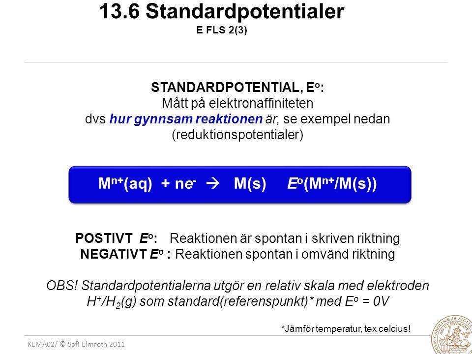 13.6 Standardpotentialer E FLS 2(3)