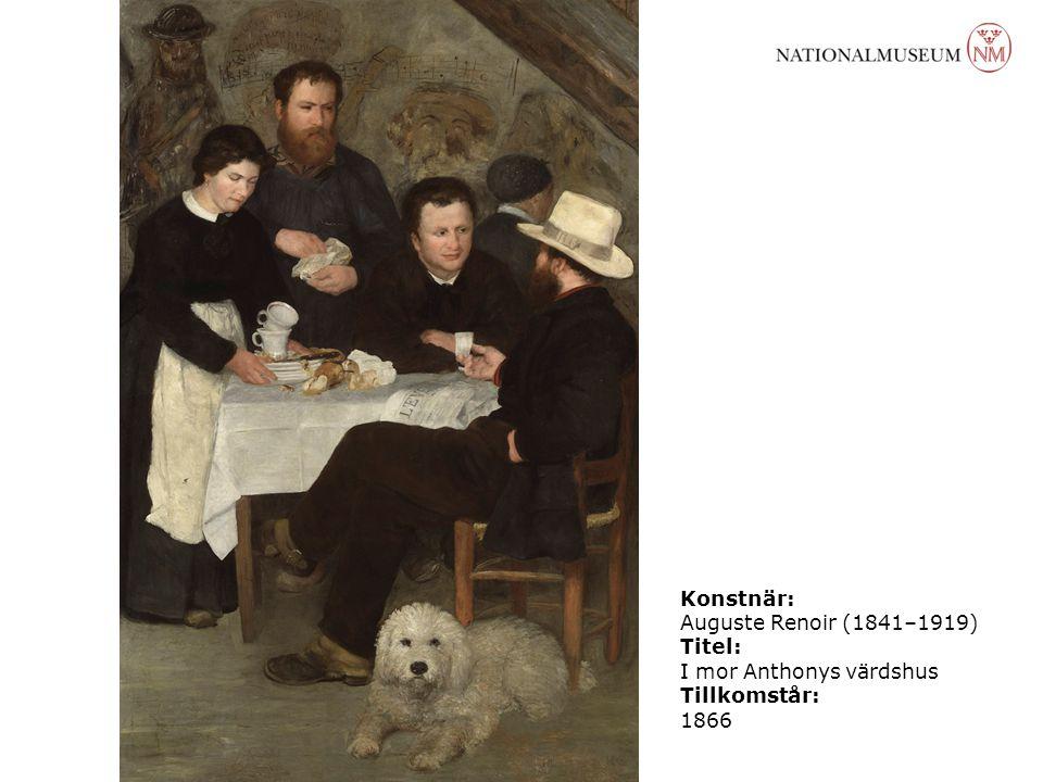 Konstnär: Auguste Renoir (1841–1919) Titel: I mor Anthonys värdshus Tillkomstår: 1866