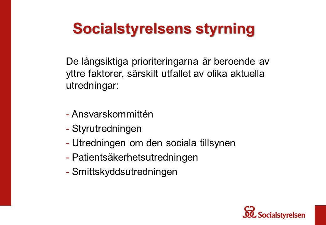 Socialstyrelsens styrning