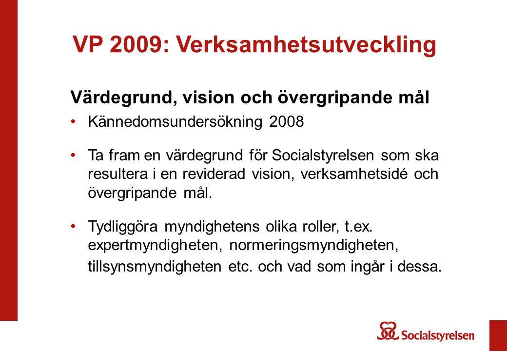 VP 2009: Verksamhetsutveckling