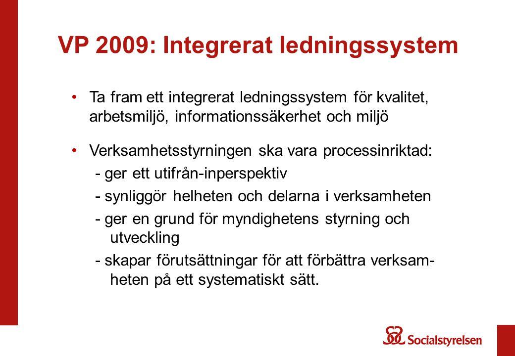 VP 2009: Integrerat ledningssystem