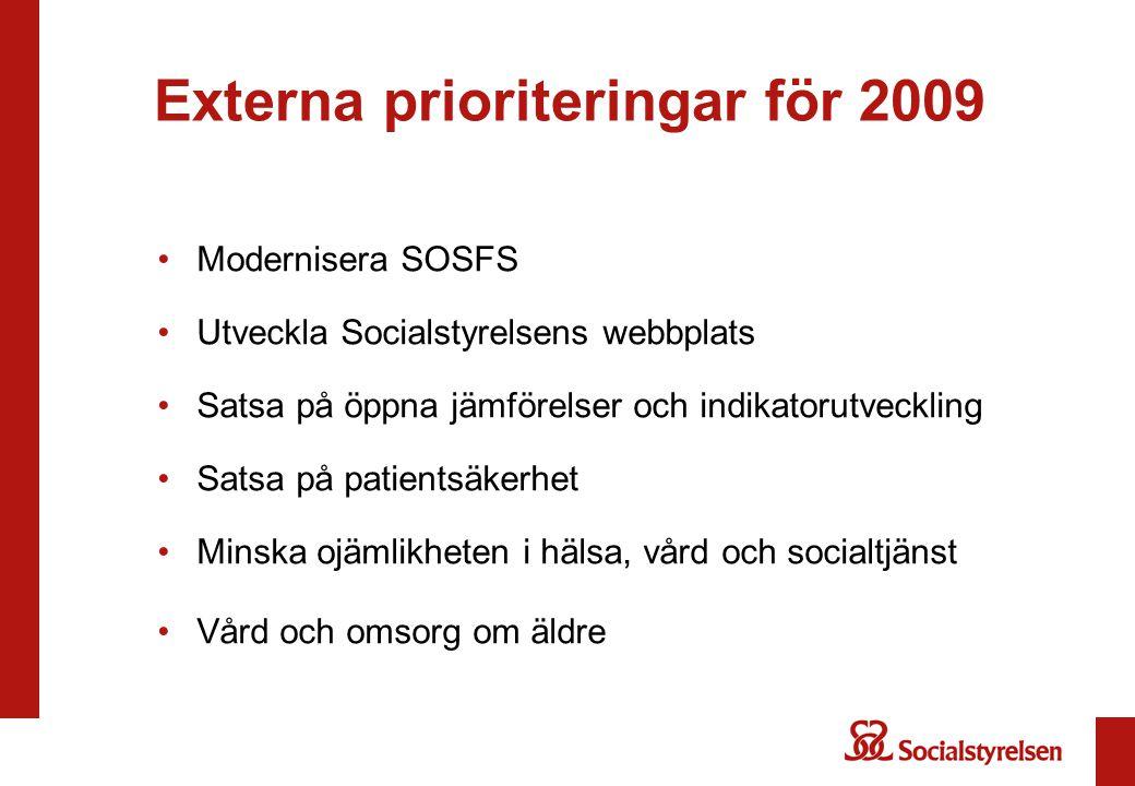 Externa prioriteringar för 2009