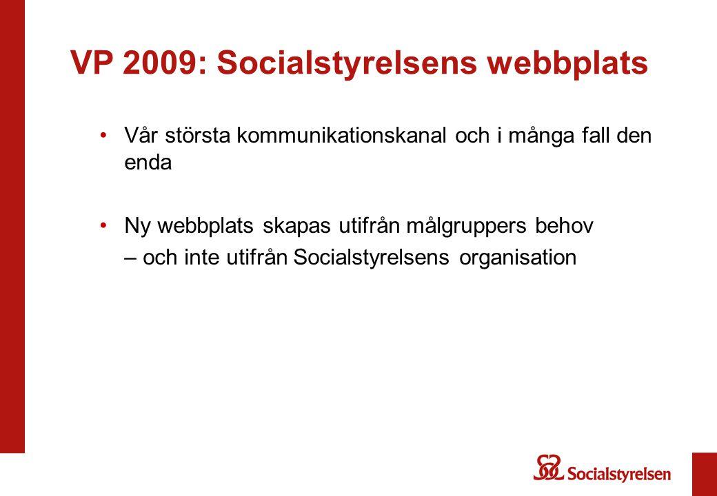 VP 2009: Socialstyrelsens webbplats