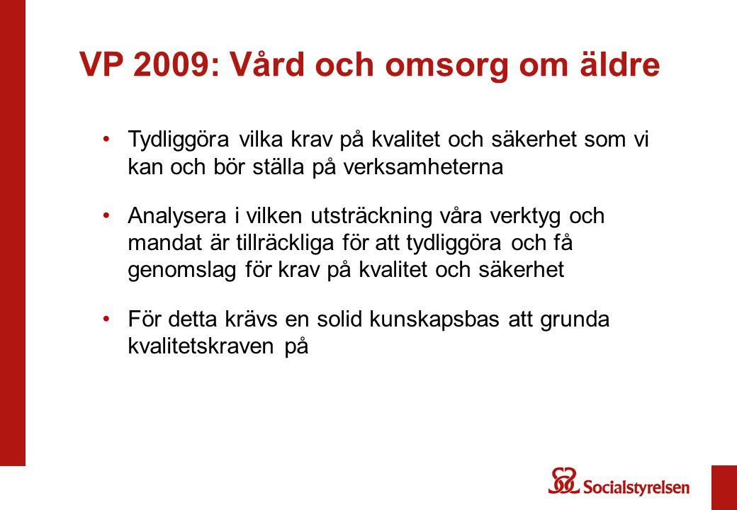 VP 2009: Vård och omsorg om äldre